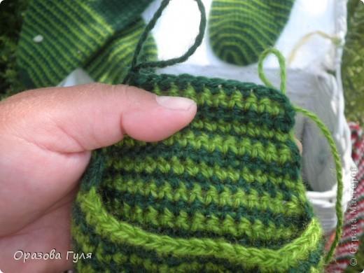 Мастер-класс Вязание крючком: Носки связанные крючком. Мастер-класс. Нитки. Фото 16