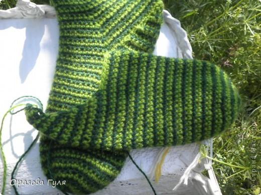 Мастер-класс Вязание крючком: Носки связанные крючком. Мастер-класс. Нитки. Фото 12