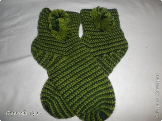 Мастер-класс Вязание крючком: Носки связанные крючком. Мастер-класс. Нитки. Фото 24