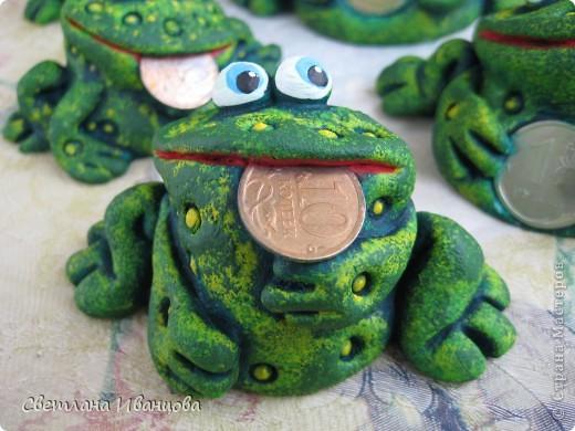 Поделка, изделие Лепка: Лягушки Тесто соленое. Фото 11