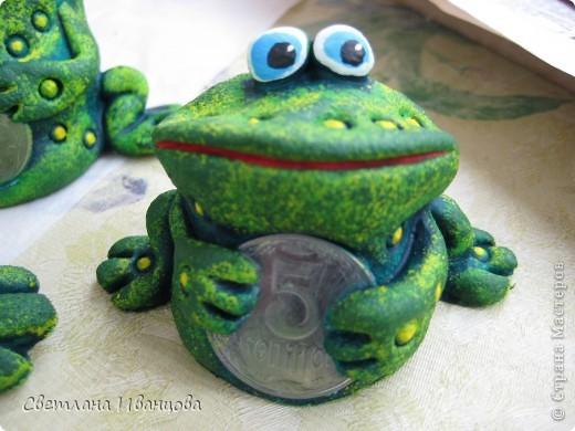 Поделка, изделие Лепка: Лягушки Тесто соленое. Фото 12