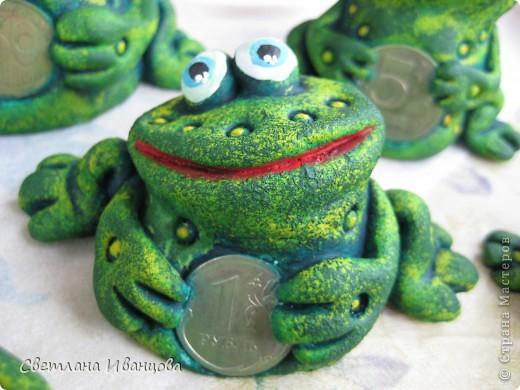 Поделка, изделие Лепка: Лягушки Тесто соленое. Фото 13