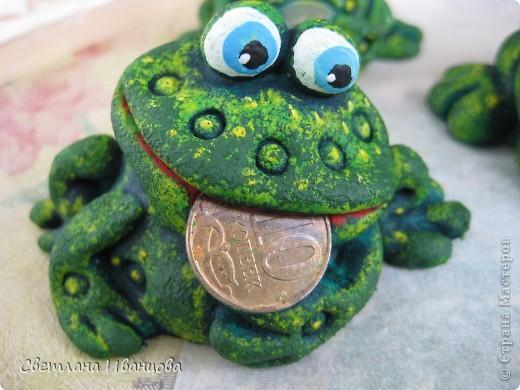 Поделка, изделие Лепка: Лягушки Тесто соленое. Фото 1