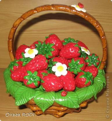 Клубнично-фруктовые корзинки Тесто соленое 8 марта, День матери, День рождения. Фото 2