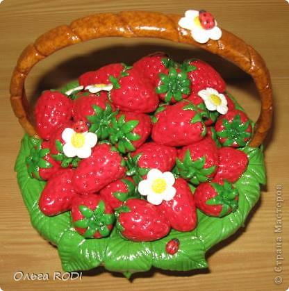 Клубнично-фруктовые корзинки Тесто соленое 8 марта, День матери, День рождения. Фото 1