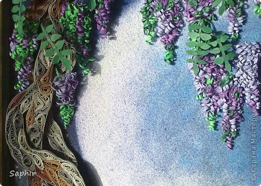 Картина, панно Бумагопластика, Квиллинг, Рисование и живопись: В лунном свете Бумага, Бумага бархатная, Клей. Фото 8