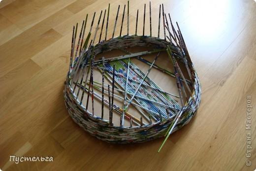 Мастер-класс, Поделка, изделие Плетение: Котькин дом Бумага газетная. Фото 3