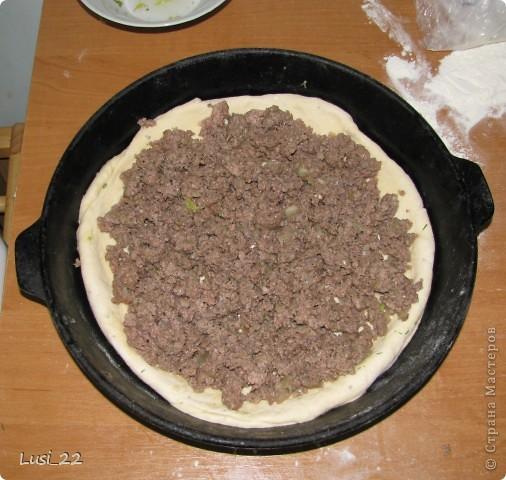 Этот пирожок я приготовила рано утром. Нужно было использовать оставшееся тесто с пиццы.. Фото 10