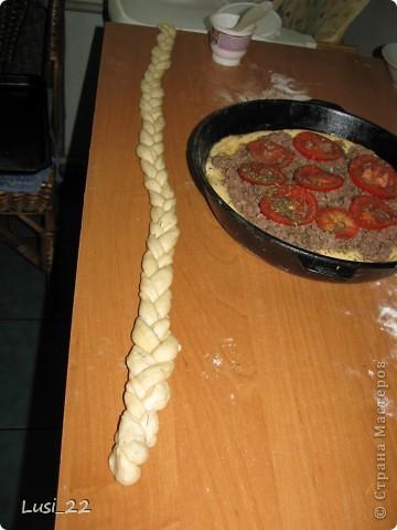 Этот пирожок я приготовила рано утром. Нужно было использовать оставшееся тесто с пиццы.. Фото 12