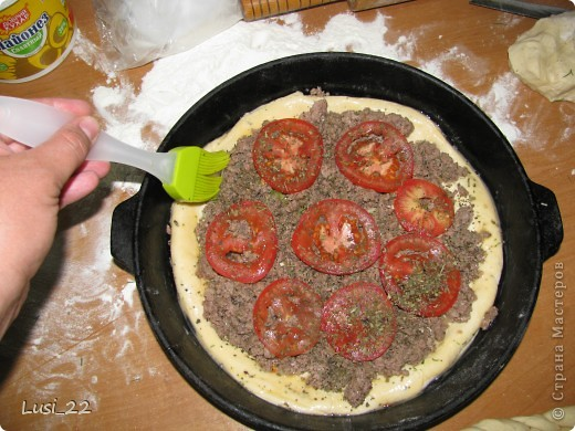 Этот пирожок я приготовила рано утром. Нужно было использовать оставшееся тесто с пиццы.. Фото 13