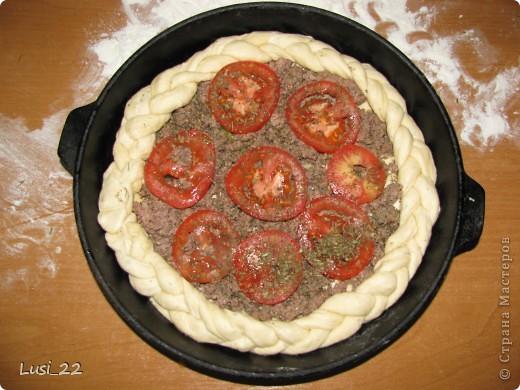 Этот пирожок я приготовила рано утром. Нужно было использовать оставшееся тесто с пиццы.. Фото 14
