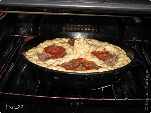 Этот пирожок я приготовила рано утром. Нужно было использовать оставшееся тесто с пиццы.. Фото 18