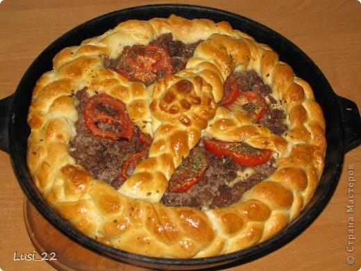 Этот пирожок я приготовила рано утром. Нужно было использовать оставшееся тесто с пиццы.. Фото 19