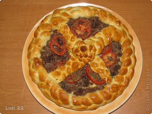 Этот пирожок я приготовила рано утром. Нужно было использовать оставшееся тесто с пиццы.. Фото 20