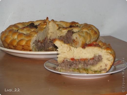Этот пирожок я приготовила рано утром. Нужно было использовать оставшееся тесто с пиццы.. Фото 22