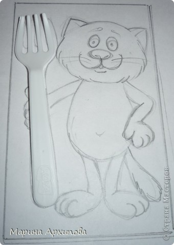 Мастер-класс Лепка: Котик-коток Тесто соленое. Фото 2
