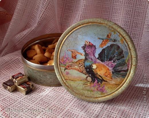 Декупаж жестяных банок из под печенья