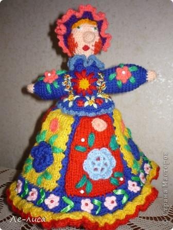Поделка, изделие Вязание крючком: Куклы-грелки для чайника Пряжа Дебют.