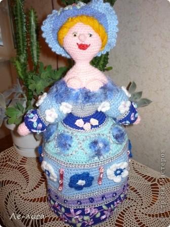 Вязаная кукла грелка на чайник своими руками 58