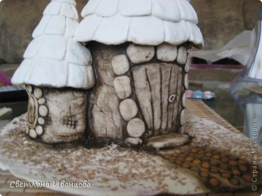 Мастер-класс Роспись: Обещанный МК покраски домиков Тесто соленое. Фото 5
