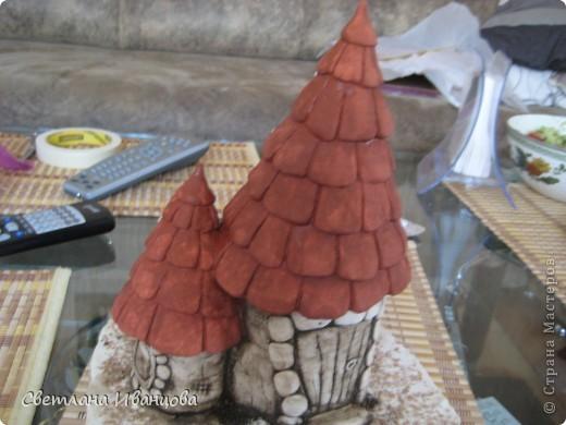 Мастер-класс Роспись: Обещанный МК покраски домиков Тесто соленое. Фото 6