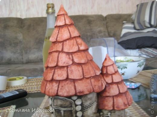 Мастер-класс Роспись: Обещанный МК покраски домиков Тесто соленое. Фото 7