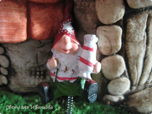 Мастер-класс Роспись: Обещанный МК покраски домиков Тесто соленое. Фото 9