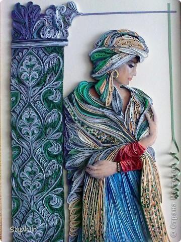Картина, панно Квиллинг: Восток - дело тонкое Бумага, Бумажные полосы, Клей. Фото 1