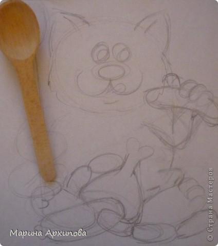 Мастер-класс Лепка: Опять кот-обжорик Тесто соленое. Фото 2