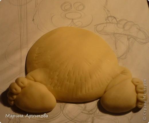 Мастер-класс Лепка: Опять кот-обжорик Тесто соленое. Фото 7