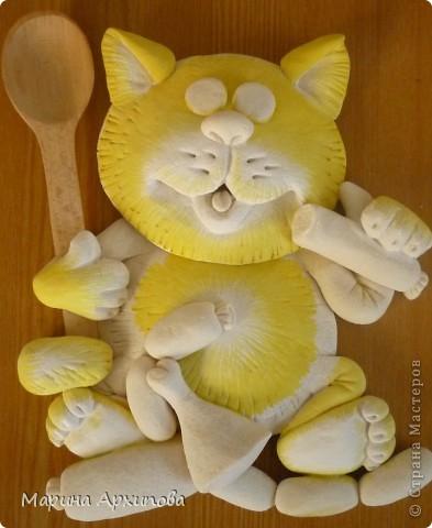 Мастер-класс Лепка: Опять кот-обжорик Тесто соленое. Фото 16