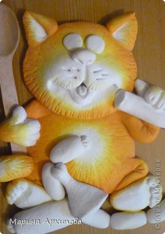 Мастер-класс Лепка: Опять кот-обжорик Тесто соленое. Фото 19