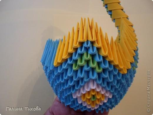 Модульное оригами - Лебедь.