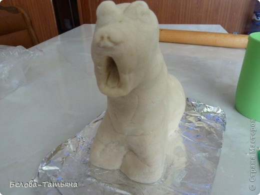 Мастер-класс, Поделка, изделие Лепка: спать охотааааа! Тесто соленое. Фото 6