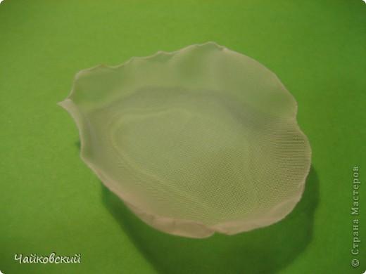 Мастер-класс Моделирование, Валяние (фильцевание), Шитьё: МК белый мак из органзы Ткань. Фото 6