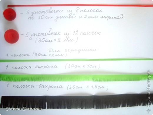 Картина, панно, Мастер-класс Квиллинг: Маки+mini МК. Бумага гофрированная, Бумажные полосы, Проволока, Ткань День рождения. Фото 10