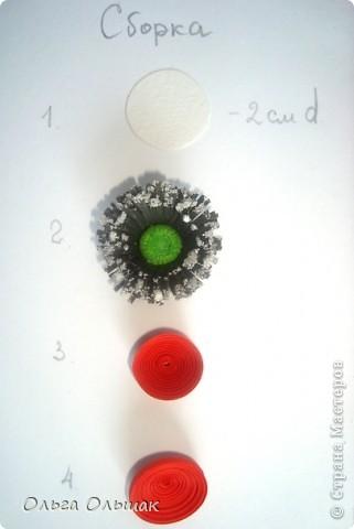 Картина, панно, Мастер-класс Квиллинг: Маки+mini МК. Бумага гофрированная, Бумажные полосы, Проволока, Ткань День рождения. Фото 12