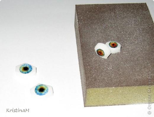 Куклы Шитьё: Эксперименты с глазами Капрон. Фото 6