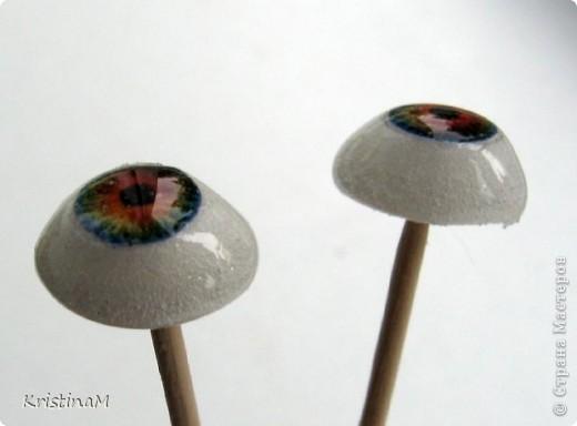 Куклы Шитьё: Эксперименты с глазами Капрон. Фото 10