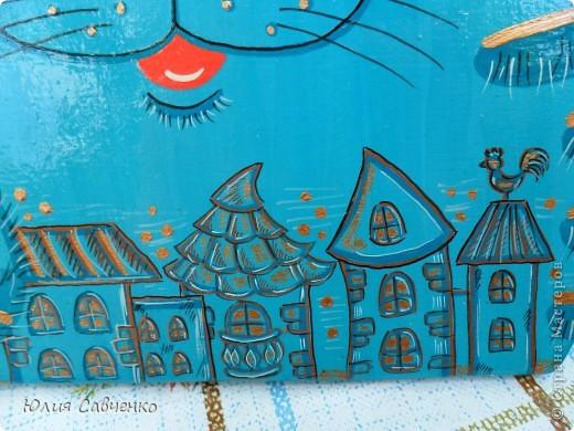 Поделка, изделие Роспись: Роспись деревянных котиков! Дерево Отдых. Фото 5