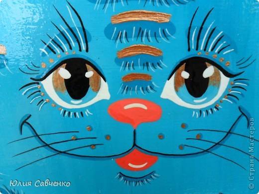Поделка, изделие Роспись: Роспись деревянных котиков! Дерево Отдых. Фото 6