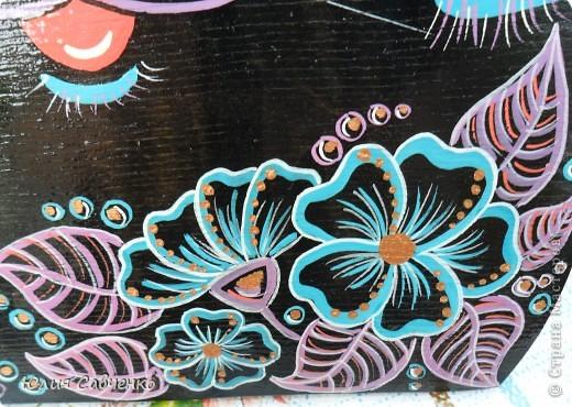 Поделка, изделие Роспись: Роспись деревянных котиков! Дерево Отдых. Фото 3