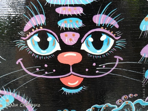 Поделка, изделие Роспись: Роспись деревянных котиков! Дерево Отдых. Фото 2