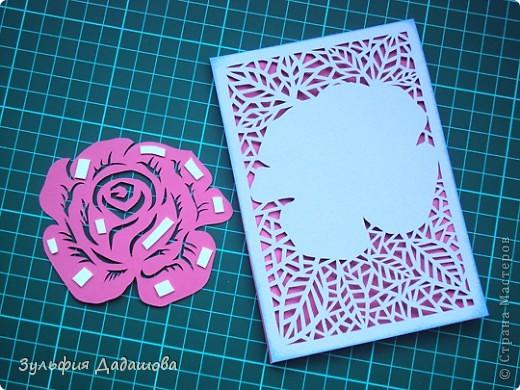 Ажурные открытки розы с днем рождения своими руками 78