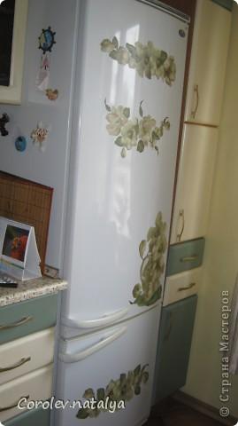 Интерьер Декупаж: Декупаж холодильника.  Фото 4.