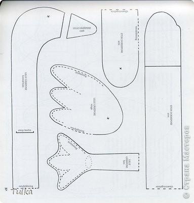Поделка, изделие Шитьё: Гусь-пакетница + схемы выкроек Ткань Отдых. Фото 6