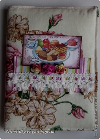 Мастер-класс, Скрапбукинг Ассамбляж: Кулинарная книга Бумага, Ткань. Фото 13