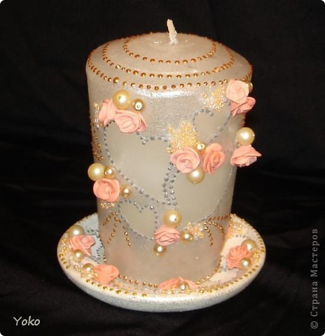 Мастер-класс: Свадебная свеча-очаг (+ МК) Бисер, Бусинки, Воск, Свечи Свадьба. Фото 1