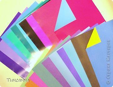 Материалы и инструменты Оригами: Рекомендую: двухцветная бумага Бумага. Фото 1
