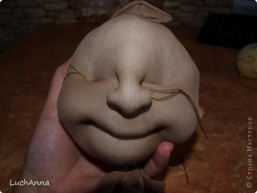 Лица кукол из колготок